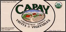 Capay Fruits and Vegetables